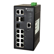 Hardened Managed Ethernet Switch, 10/100/1000 Ethernet Transceiver with 7x10/100Base-TX and 3xGigabit combo ports