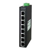Hardened Unmanaged Ethernet Switch with 8 PoE (30W) 10/100/1000 ports (and PSE)